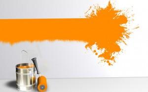 Wand Farbstreifen Klecks O